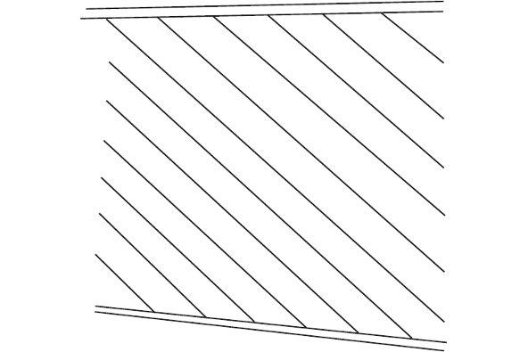 Angle board fence