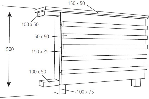 Horizontal board and batten fence