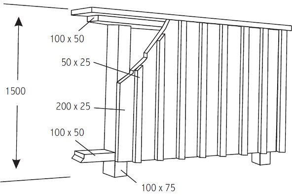 Vertical board and batten fence