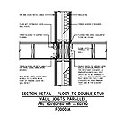 SECTION DETAIL - FLOOR TO DOUBLE STUD WALL, JOISTS PARALLEL, FRL 60/60/60 OR -/60/60 FD0001A