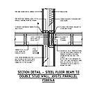 SECTION DETAIL - STEEL FLOOR BEAM TO DOUBLE STUD WALL, JOISTS PARALLEL FD0014A