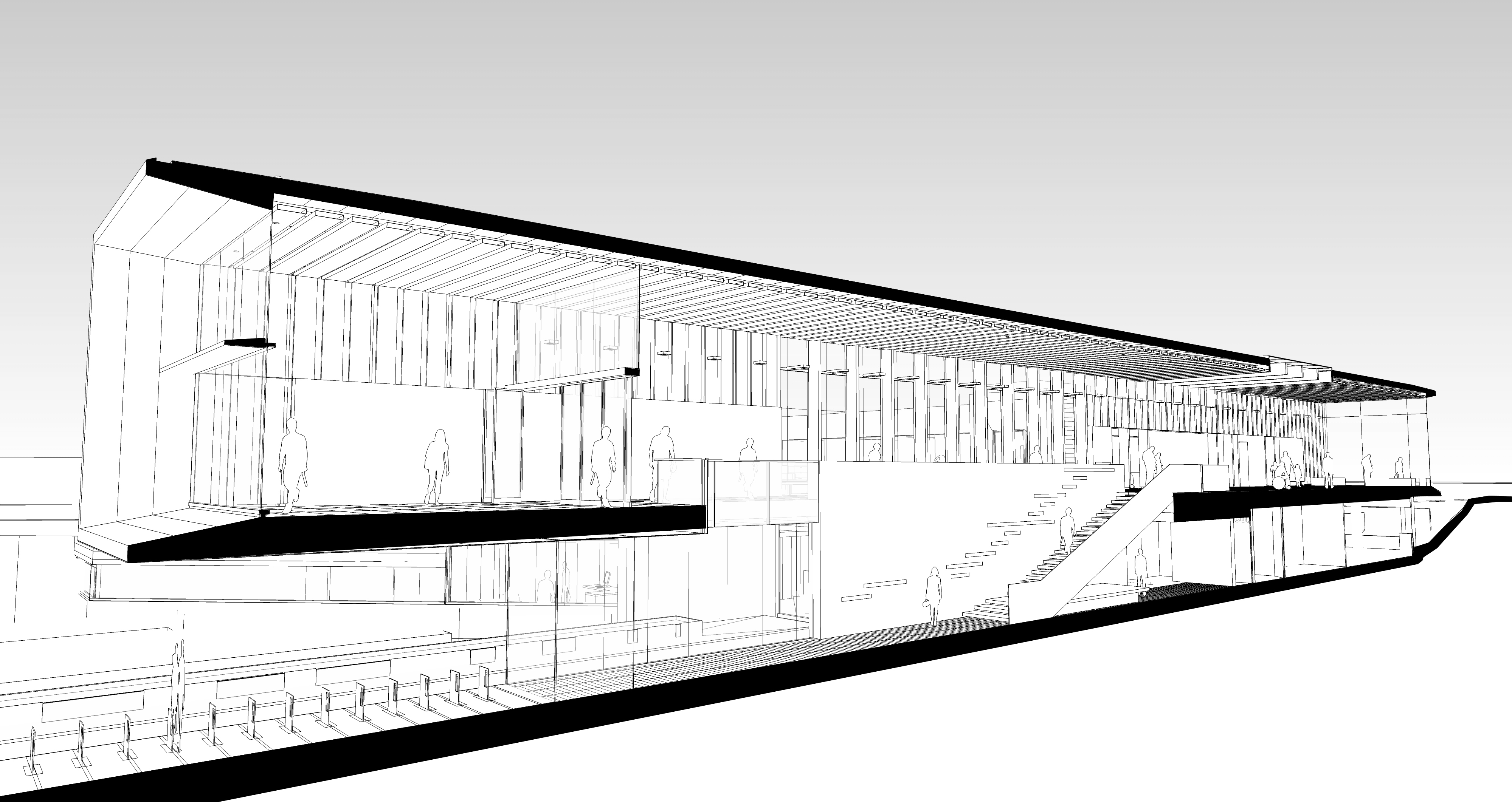Atrium Section, mgb's North Vancouver City Hall Project