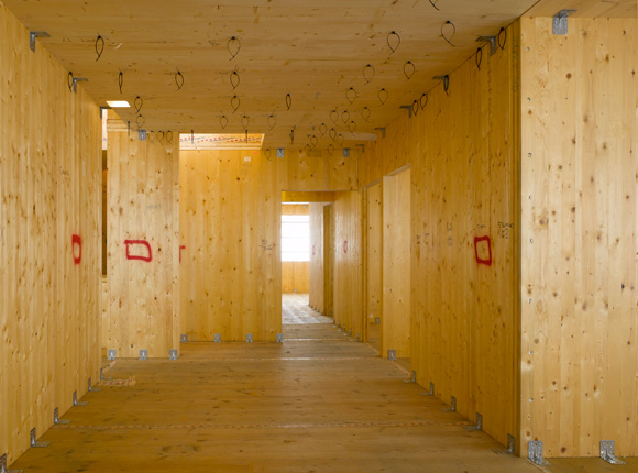 CLT at Murray Grove – the world's tallest modern timber residential building – designed by Waugh Thistleton Architects