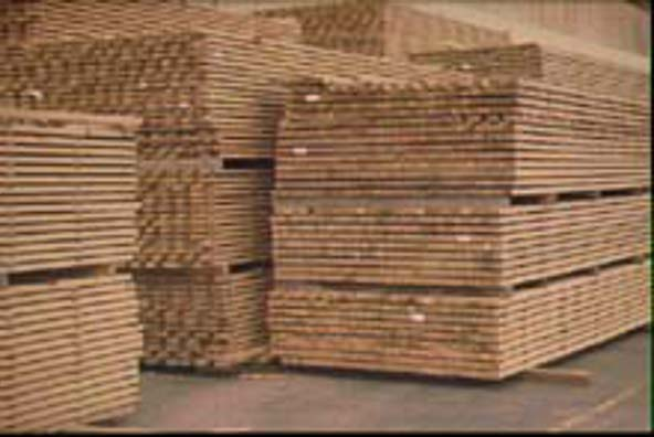Sawn timber is air-drying, a much slower way to season timber