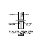 SECTION DETAIL - PIPE PENETRATION THROUGH DOUBLE STUD WALL WD0003A