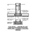 PLAN DETAIL - JUNCTION OF CLAD FRAME WALL TO DOUBLE STUD WALL WD0026A