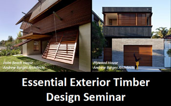 Exterior Timber Design Seminar Header