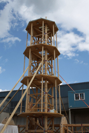 100m Wooden Wind Turbine Tower Woodsolutions